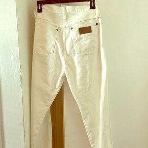 White Tailored Wrangler Jeans